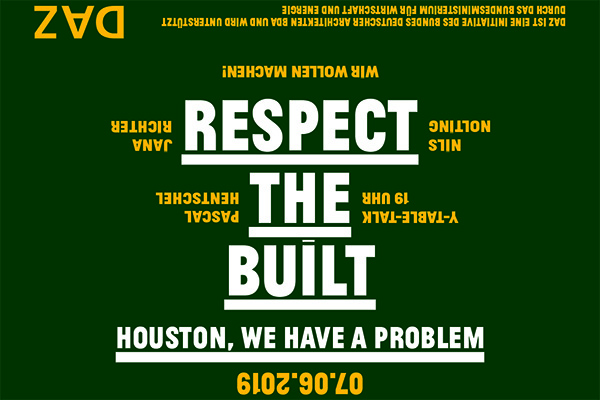 "Y-Table-Talk ""Respect the built"""