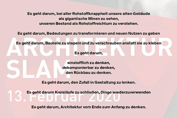 Architekturslam in Braunschweig, 13.Februar 2020