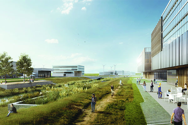 Lune Delta° - sustainable industrial park for the city of Bremerhaven.